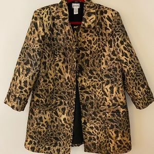 Chico's Dress cost 3/4 sleeve leopard